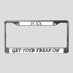 IV:XX License Plate Frame