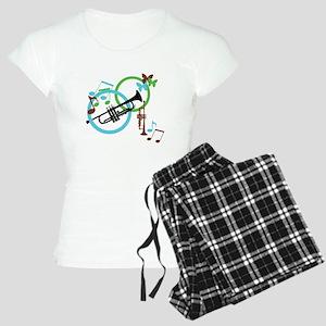 Abstract Trumpet Women's Light Pajamas