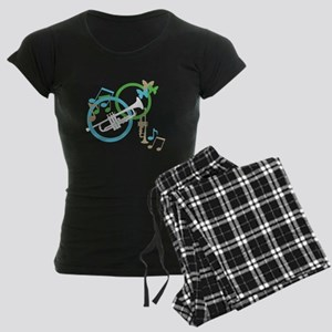 Abstract Trumpet Women's Dark Pajamas