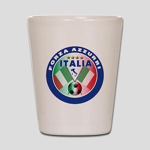 Italian Forza Azzurri Shot Glass
