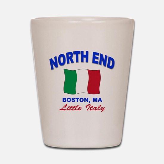 North End Boston,MA Shot Glass