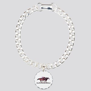 May The Horse Be With You Charm Bracelet, One Char