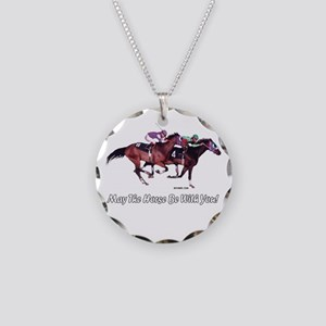 May The Horse Be With You Necklace Circle Charm