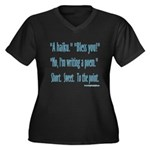 Sneeze: A Funny Haiku Women's Plus Size V-Neck Dar