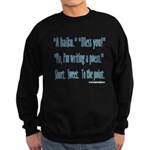 Sneeze: A Funny Haiku Sweatshirt (dark)