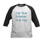 Sneeze: A Funny Haiku Kids Baseball Jersey