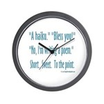 Sneeze: A Funny Haiku Wall Clock