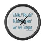 Sneeze: A Funny Haiku Large Wall Clock