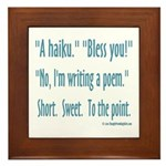Sneeze: A Funny Haiku Framed Tile