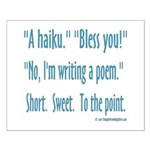 Sneeze: A Funny Haiku Small Poster