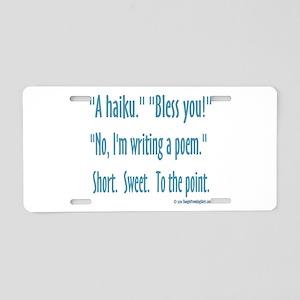 Sneeze: A Funny Haiku Aluminum License Plate