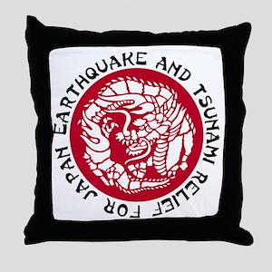 Tsunami Dragon Throw Pillow