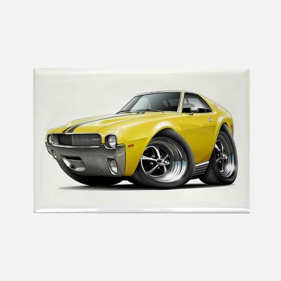 1968-69 AMX Yellow-Black Car Rectangle Magnet