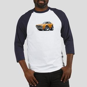 1968-69 AMX Orange-White Car Baseball Jersey