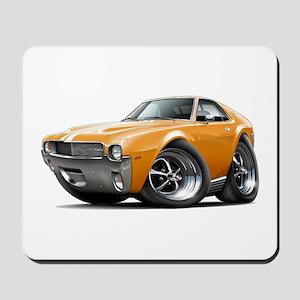 1968-69 AMX Orange-White Car Mousepad