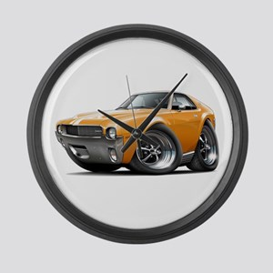 1968-69 AMX Orange-White Car Large Wall Clock