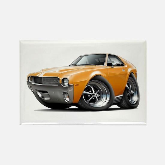 1968-69 AMX Orange-White Car Rectangle Magnet