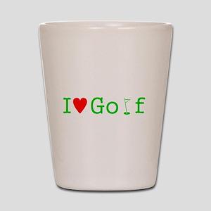 I Heart Golf Shot Glass