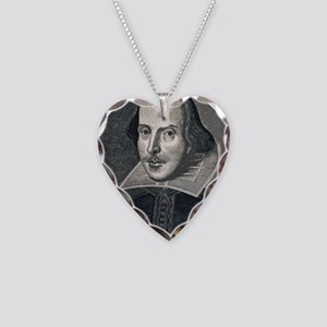 Wm Shakespeare Necklace Heart Charm