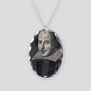 Wm Shakespeare Necklace Oval Charm