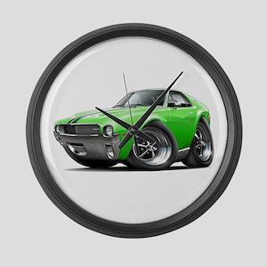1968-69 AMX Lime-Black Car Large Wall Clock