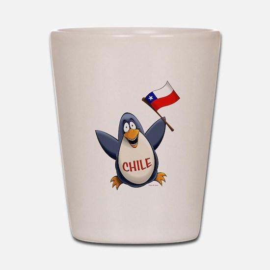 Chile Penguin Shot Glass