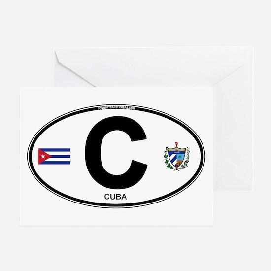 Cuba Intl Oval Greeting Card
