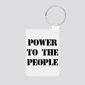 Power to the People Aluminum Photo Keychain