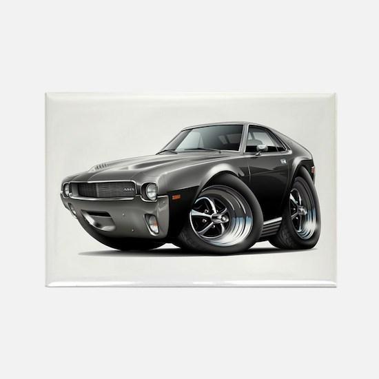 1968-69 AMX Black Car Rectangle Magnet