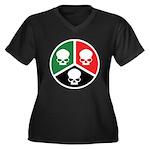 H3S Women's Plus Size V-Neck Dark T-Shirt