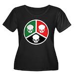 H3S Women's Plus Size Scoop Neck Dark T-Shirt