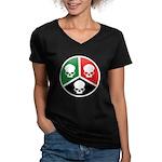 H3S Women's V-Neck Dark T-Shirt