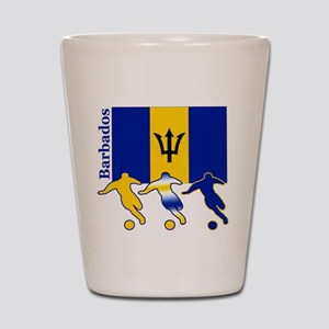 Barbados Soccer Shot Glass