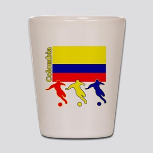 Colombia Soccer Shot Glass