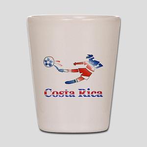 Costa Rica Soccer Player Shot Glass