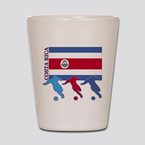 Costa Rica Soccer Shot Glass