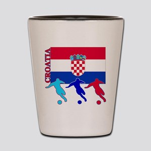 Croatia Soccer Shot Glass