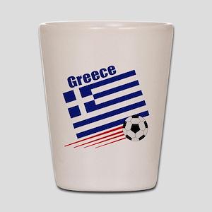Greece Soccer Team Shot Glass