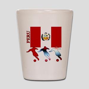 Peru Soccer Shot Glass