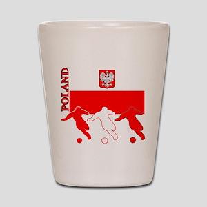 Poland Soccer Shot Glass