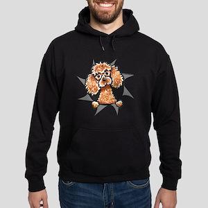 Apricot Poodle Burst Hoodie (dark)