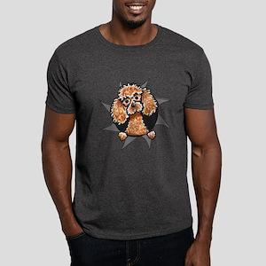 Apricot Poodle Burst Dark T-Shirt
