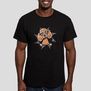 Apricot Poodle Burst Men's Fitted T-Shirt (dark)