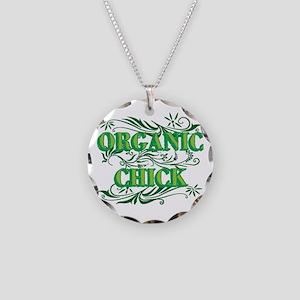 Organic Chick Necklace Circle Charm