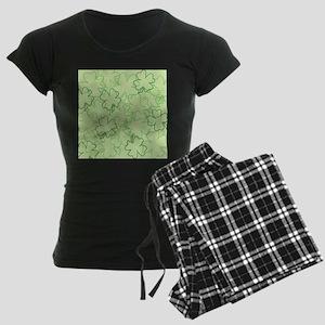 Scrambled Shamrock Women's Dark Pajamas