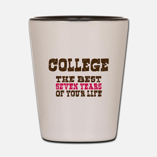 College Shot Glass