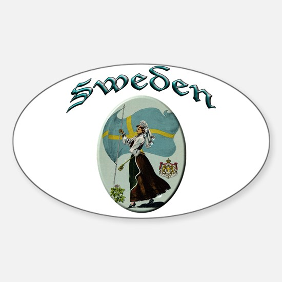 Sweden Sticker (Oval)