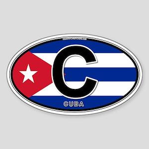 Cuba Intl Oval (colors) Sticker (Oval)