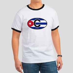Cuba Intl Oval (colors) Ringer T