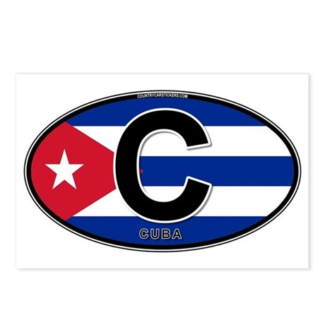 Cuba Intl Oval (colors) Postcards (Package of 8)